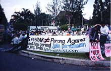 Student demonstration against the war in Iraq (Indonesia)