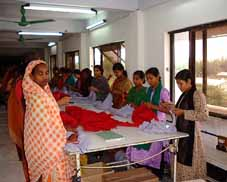 Women providing final checks of products to be exported at a garment factory in Bangladesh