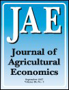 書籍:Journal of Agricultural Economics