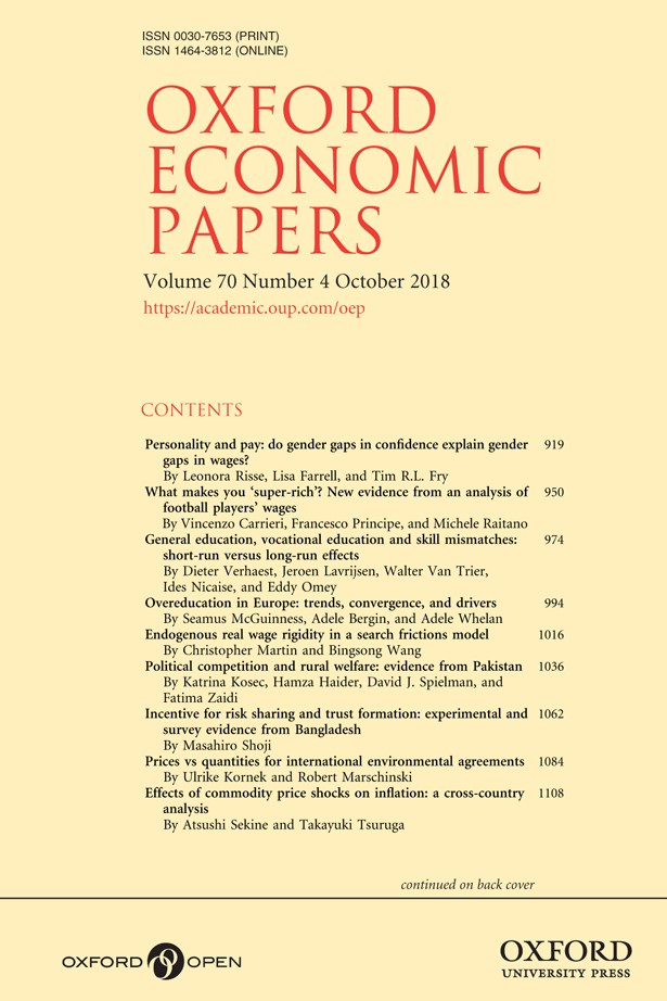 書籍:Oxford Economic Papers