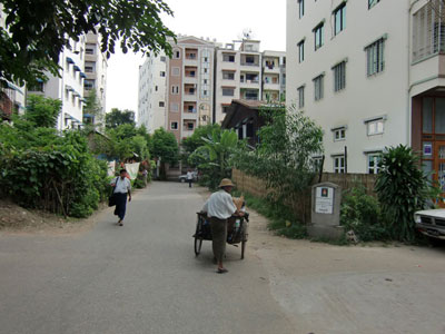A neighborhood road in Yangon