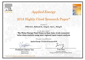 Applied Energy Highly Cited Paper Awards 2020
